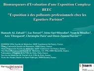 Biomarqueurs d'Evaluation d'une Exposition Complexe BEEC ...