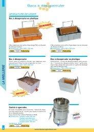 Catalogue Désoperculation - Thomas apiculture