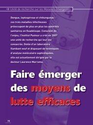 Plaquette de présentation - Institut Pasteur de Guadeloupe