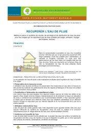 Récupérer les eaux de pluie - Bruxelles Environnement