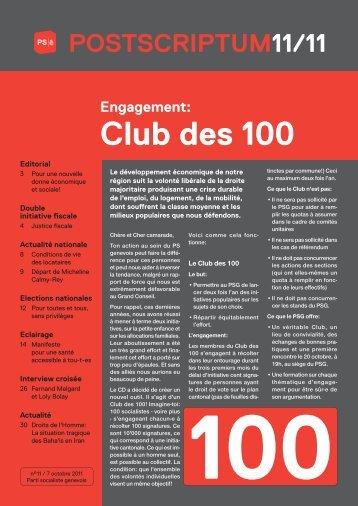 octobre 2011 - Parti Socialiste Ville de Genève
