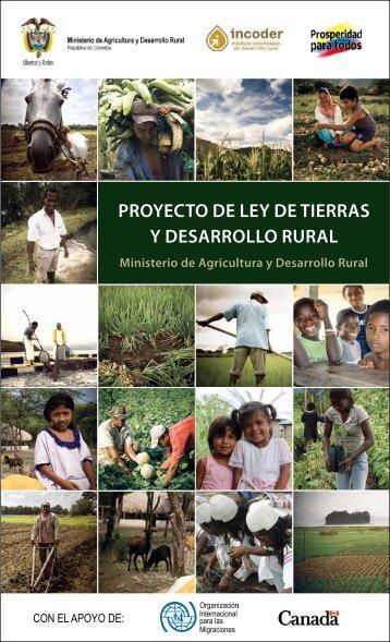 Proyecto de Ley de tierras y desarroLLo ruraL