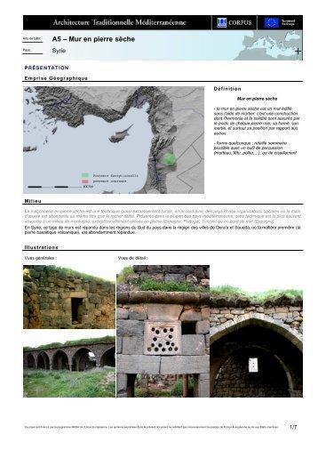 A5 – Mur en pierre sèche
