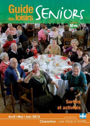 Guide des loisirs séniors (avril/mai/juin) - Charenton-le-Pont