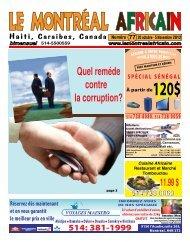 Numéro 20 octobre - 5 Novembre 2012 - Le montreal africain