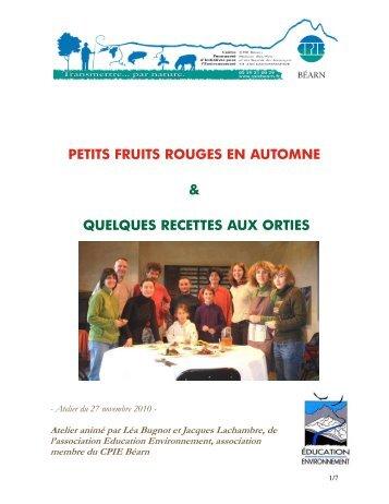 petits fruits rouges en automne & quelques recettes ... - CPIE Béarn