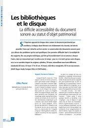 Télécharger en PDF - Bulletin des Bibliothèques de France