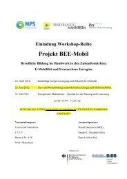 Projekt BEE-Mobil