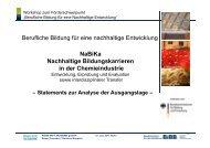 NaBiKa - BIBB / Berufsbildung für nachhaltige Entwicklung