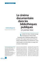 Le cinéma documentaire dans les bibliothèques publiques