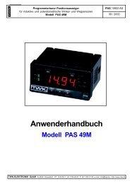 Anwenderhandbuch Modell PAS 49M - TWK-ELEKTRONIK GmbH