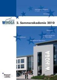 2. Sommerakademie 2010 - Bianca Spalteholz Hotel Business ...