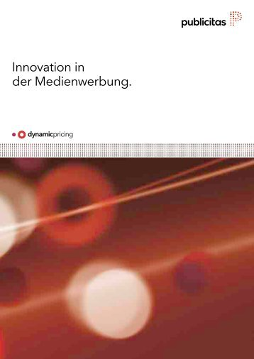 Innovation in der Medienwerbung. - Publicitas AG