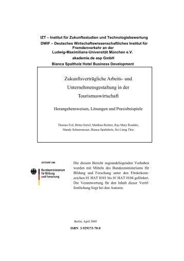 Bundesforschungsprojekt - Bianca Spalteholz Hotel Business ...
