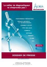 Dossier de Presse AGENDA - AGENDA Diagnostic Immobilier