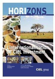 et de Développement Limitée (CIDL). La deuxième ... - CIEL Group