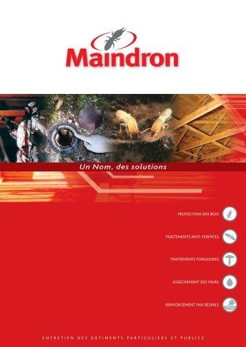 La plaquette en pdf - Maindron