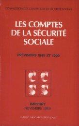 Rapport à la Commission des comptes de la sécurité sociale de ...