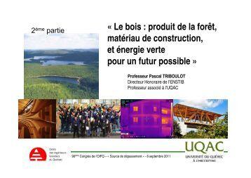 Voir la présentation - partie 2 - Ordre des ingénieurs forestiers du ...