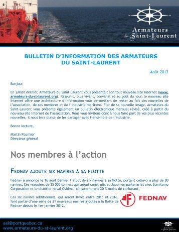 Lire la suite - Armateurs du Saint-Laurent