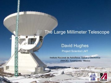 The Large Millimeter Telescope - Berkeley Center for Cosmological ...