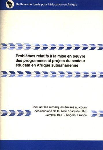 Problèmes relatifs à la mise en œuvre des programmes et ... - ADEA