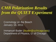 CMB Polarization Results from the QUIET Experiment - Berkeley ...