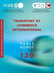 Transport et commerce international - International Transport Forum