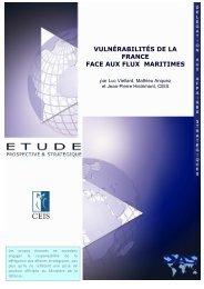 Vulnérabilités de la France face aux flux maritimes - Ministère de la ...