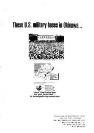 These US military bases in Okinawa - Barnard Center for Research ...
