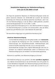 Gesetzliche Regelung zur Patientenverfügung - Hausärzteverband ...