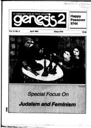 Special Focus On Judaism and Feminism - Barnard Center for ...
