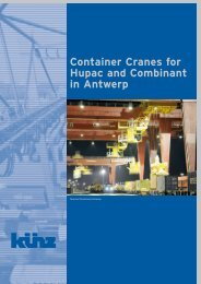 Container Cranes for Hupac and Combinant in Antwerp