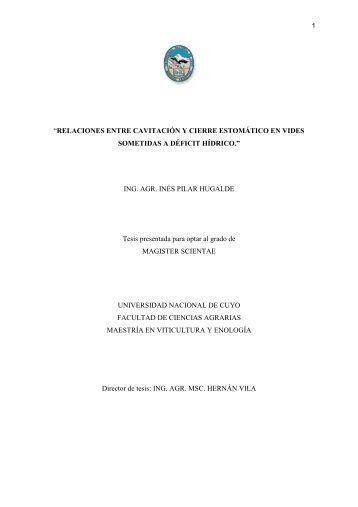 tesis Inés - Universidad Nacional de Cuyo