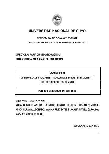 UNIVERSIDAD NACIONAL DE CUYO - Biblioteca Digital ...