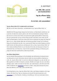 2. Aktionsbrief - Bund der Deutschen Landjugend