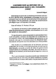 CONTRIBUCION AL ESTUDIO DE LA PERSONALIDAD BASICA ...