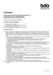 SATZUNG - Bundesverband der Organtransplantierten e.V.