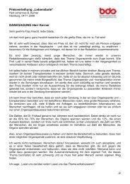 "Preisverleihung ""Lebensbote"" DANKSAGUNG Herr Kerner"