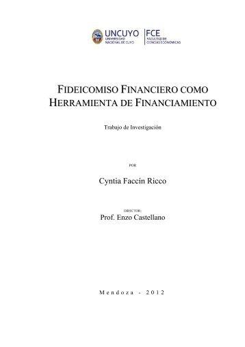 Fideicomiso Financiero como Herramienta de Financiamiento ...