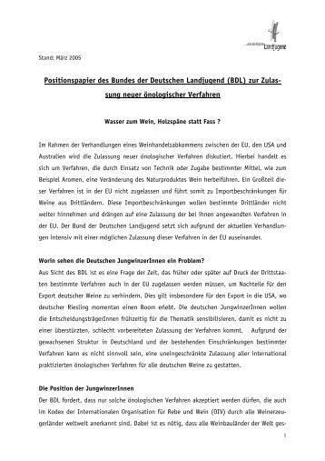 Download des Positionspapiers - Bund der Deutschen Landjugend