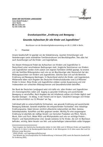 2008_Ernaehrung_Bewegung.pdf - Bund der Deutschen Landjugend