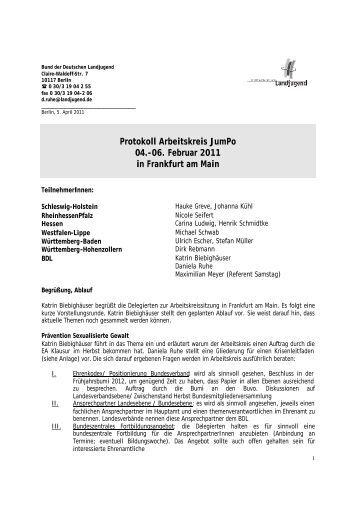 Protokoll - Bund der Deutschen Landjugend