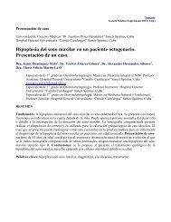 Hipoplasia del seno maxilar en un paciente octogenario ... - Infomed