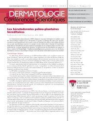 Les kératodermies palmo-plantaires héréditaires - Dermatologie ...