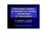 EVALUATION CLINIQUE ET IMAGERIE DU POIGNET ...