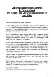 Lebertransplantationszentren - Bundesverband der ...