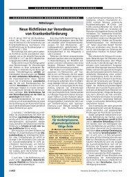 Neue Richtlinien zur Verordnung von Krankenbeförderung