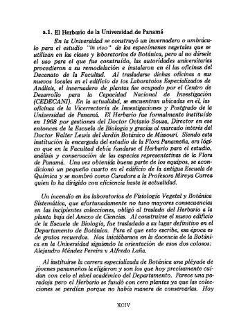 a.1. El Herbario de la Universidad,de Panamá - Biblioteca Virtual El ...