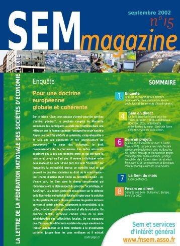 Enquête Sem et services d'intérêt général www.fnsem ... - Epl en ligne